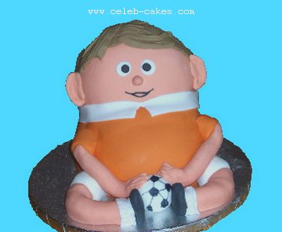 Footballer birthday cake